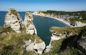 Étretat látképe (Normandia)